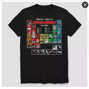 Star Wars Periodic Table Of Villans T-shirt
